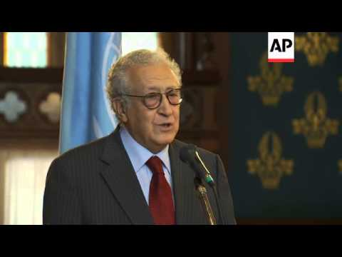 Arab League Envoy Brahimi meets with Russia Foreign Minister Lavrov after Syria ceasefire failure