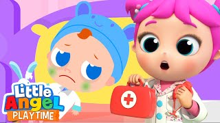 Doctor Jill You're So Brave | A Boo Boo Song | Little Angel Kids Songs