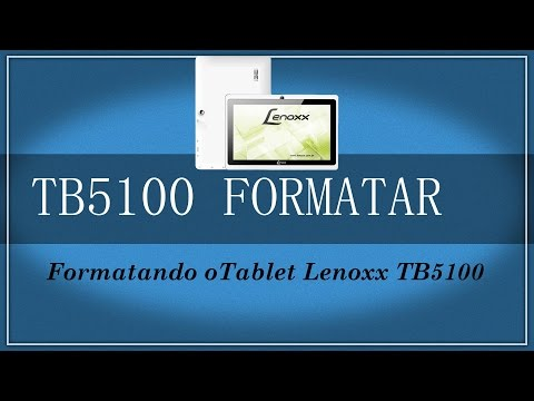 Conserto de Tablet Formatando o tablet Lenoxx TB5100