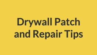 Drywall Patch and Repair Tips - The Lumber Guys | Toronto Drywall Supplies