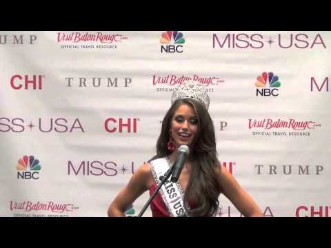 Exclusive: Miss USA 2014 Nia Sanchez press conference