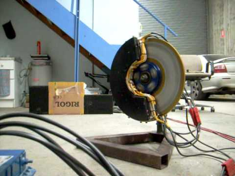 Electric Car Axial Flux 3 Phase Ac Induction Wheel Motor