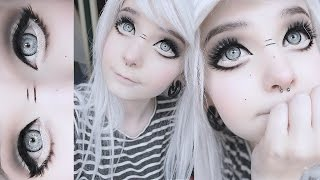 Big anime doll eyes tutorial