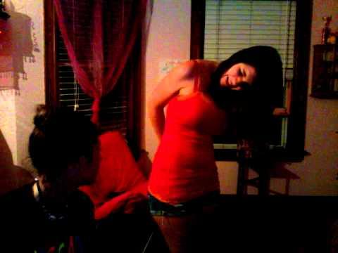 Naked girl getting spanked