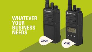 Motorola Solutions XT400 Series: Built Tough To Do Business Better