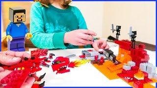 Lego Minecraft VS Lego Dragon 🐉