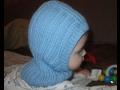 Вязание спицами. Шапочка шлем для малыша
