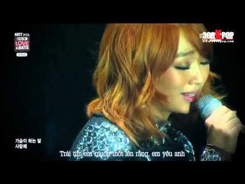 [Vietsub][Perf] Hyorin - Crazy Of You + End Of Time @Mnet HYOLYN'S Love & Hate {STAR1 Team}