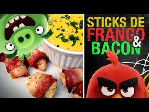 Sticks de frango e BACON (ANGRY BIRDS)!!! | Miolos Fritos Culinária Nerd
