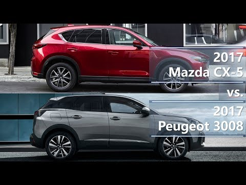2017 Mazda CX-5 vs. 2017 Peugeot 3008 (technical comparison)