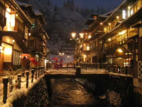 銀山温泉 雪の宵[ Ginzan-onsen Hot spring - snow&night view ]