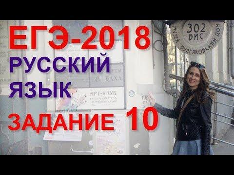Готовимся к ЕГЭ по русскому языку. Задание 10