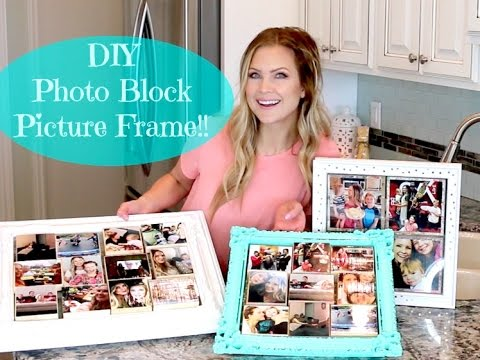 Photo Block Picture Frame!! Mother's Day Gift Idea!!