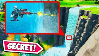 *SECRET* WATERFALL HIDING SPOT!! - Fortnite Funny Fails and WTF Moments! #716