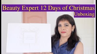 BEAUTY EXPERT 12 DAYS OF CHRISTMAS ADVENT CALENDAR Unboxing, Review