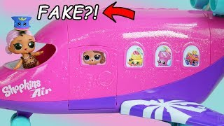 LOL Surprise Dolls Air Plane + Custom Bedroom with pets Hair Goals Blind Bags