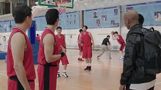 """Saiyuan Bian with Stephon Marbury in the movie """"my other home"""""""