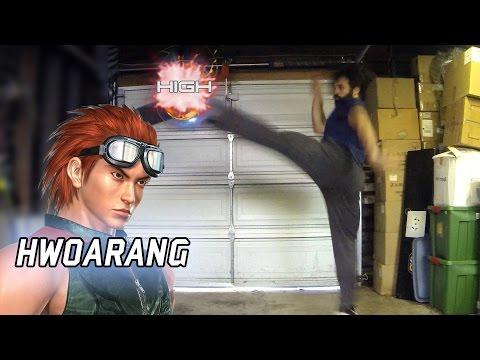 Real Life Tekken - TKD with HWOARANG [Eric Jacobus]