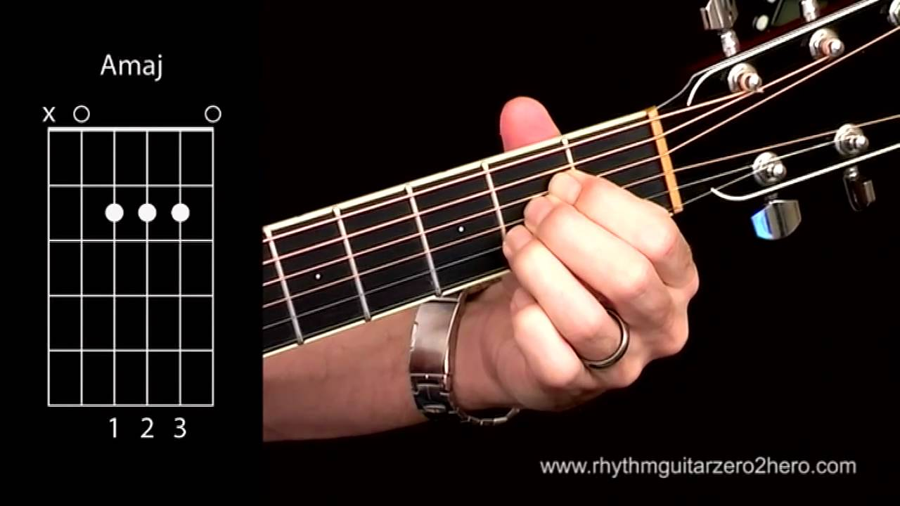 Acoustic Guitar Chords - Learn To Play A Major - 3 Fingerings - YouTube