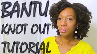 Bantu Knot Out Tutorial