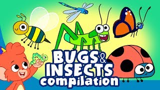 Learn Insects and Bugs for Kids | Cute Insect a to z Cartoon Compilation | Club Baboo