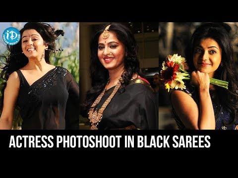 Bollywood Black Beauties Hot B&W Sarees Photoshoot