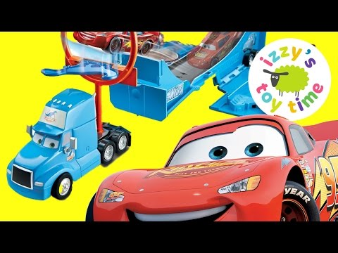Cars for Kids! Disney Pixar Cars Drop and Jump Unboxing with Lightning McQueen Mater and More