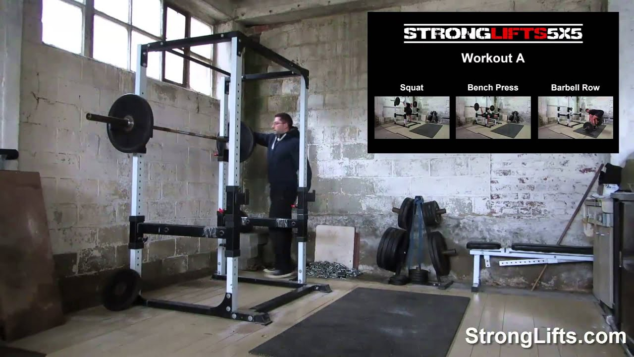 Stronglifts 5x5 Workout B Full Video Official Youtube