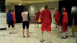 Alex Ovechkin, Fedorov and the Capitals Playing Soccer (Football)