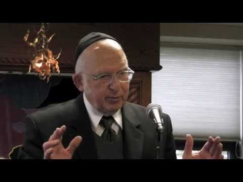 Rav Aharon Lichtenstein at Cong. Netivot Shalom, Teaneck, NJ on Nov. 13, 2011