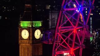 2015 New Year - Big Ben Chimes Midnight