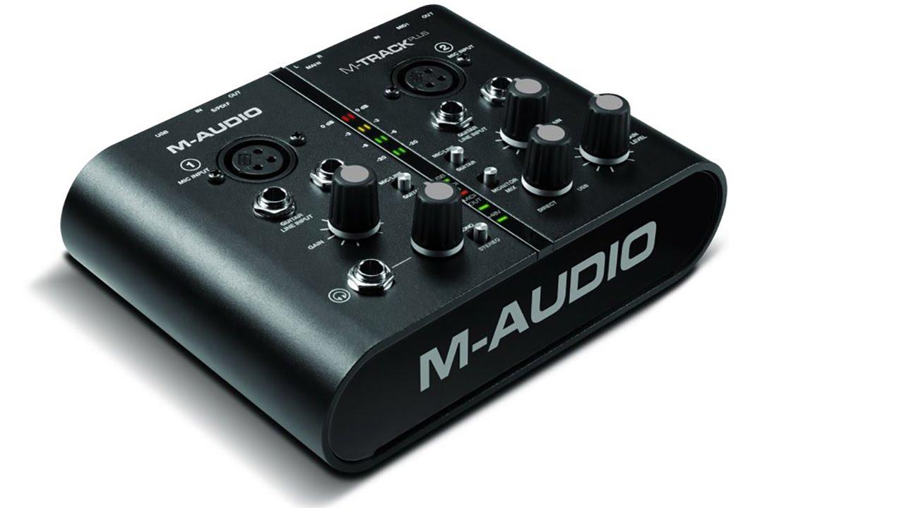 M-Audio M-track PLUS USB внешняя звуковая карта - YouTube