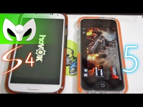 Galaxy S4 vs iPhone 5 Español Speed Test (VELOCIDAD)