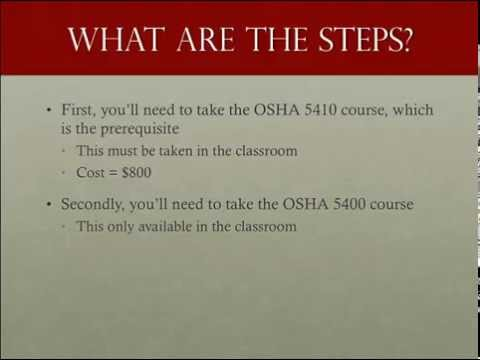 How to become an OSHA authorized maritime trainer