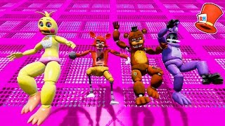 ANIMATRONICS SLIDE DOWN 999,999 FEET! (GTA 5 Mods For Kids FNAF Funny Moments) RedHatter