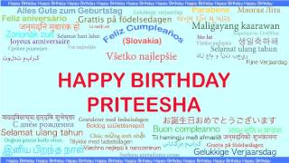 Priteesha   Languages Idiomas - Happy Birthday