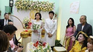 Đám cưới diễn viên Anh Tài - Vũ Ngọc Ánh: Lễ rước dâu rộn tiếng cười với dàn bưng quả toàn sao