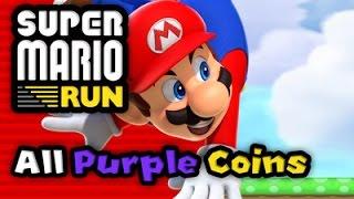 Super Mario Run: FULL GAME - All 24 Levels (All Purple Coins)
