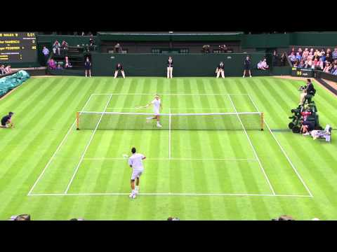 Roger Federer's brilliant volley at Wimbledon 2013