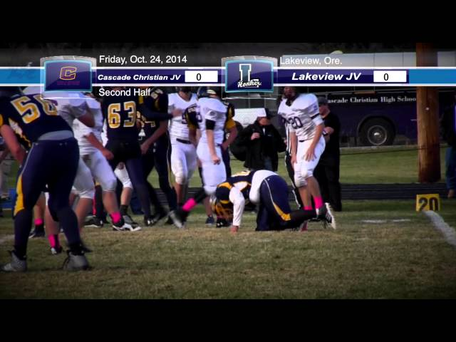 LHS JV football highlights: Cascade Christian at Lakeview 10-24-2014