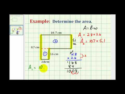 Example:  Determine the Area of an L-Shaped Polygon Using Decimals