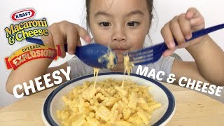 CHEESY MAC & CHEESE [ Kraft Dinner Mukbang ] Lets Eat