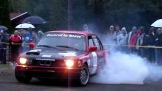 Zrc rally Zamárdi Prológ BMW gumiégetés