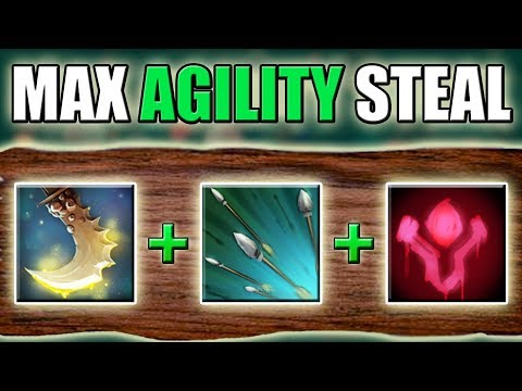 Full Agility Steal Windranger [Max Attack Speed + Essence Shift] Dota 2 Ability Draft