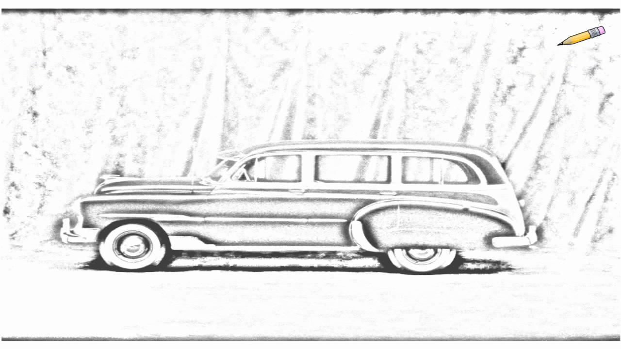 Woody Car Drawing Auto Draw 2 Classic Woody