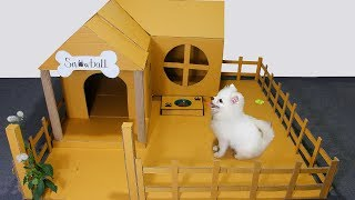 DIY Making A Beautiful House For Snowball Dog- DIY Dog Toys