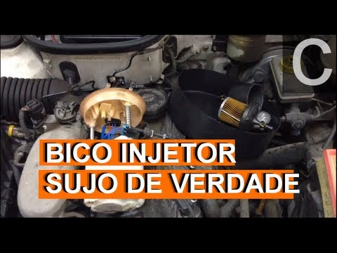 Dr CARRO Bico Injetor sujo de verdade por um Filtro de Combustível saturado