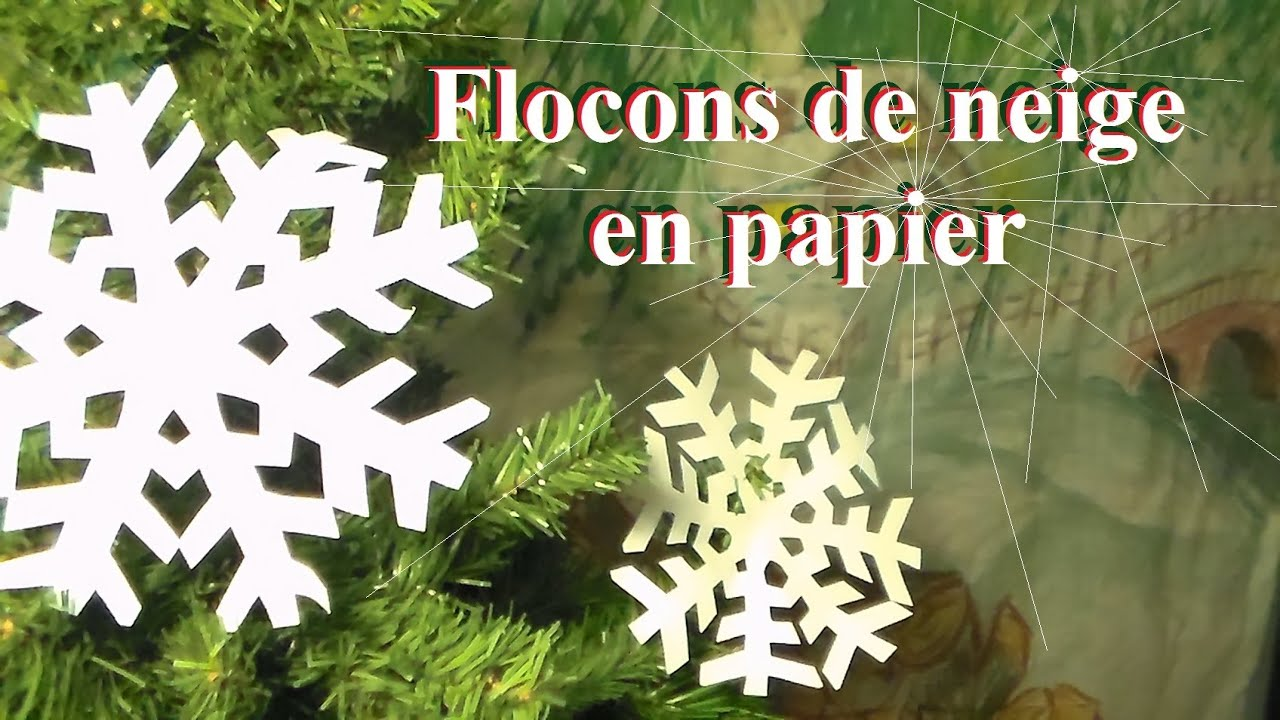 fabriquer un flocon de neige en papier bricolage de no l. Black Bedroom Furniture Sets. Home Design Ideas