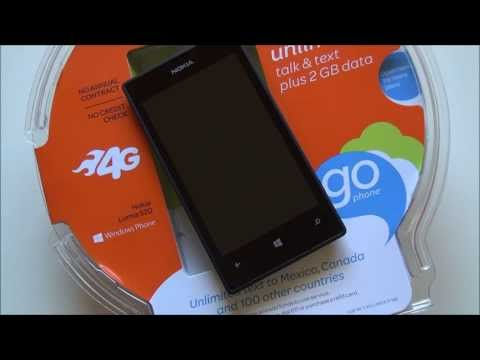 AT&T Nokia Lumia 520 with GDR2 and Amber. unboxing and  tour