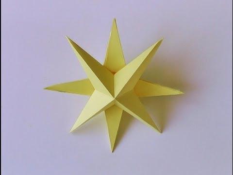 Manualidades - Estrella de navidad 3D - 3D star - Christmas ornament.